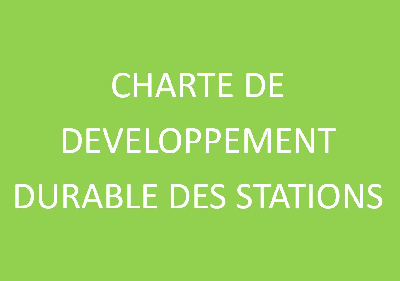 Charte de Développement Durable des Stations