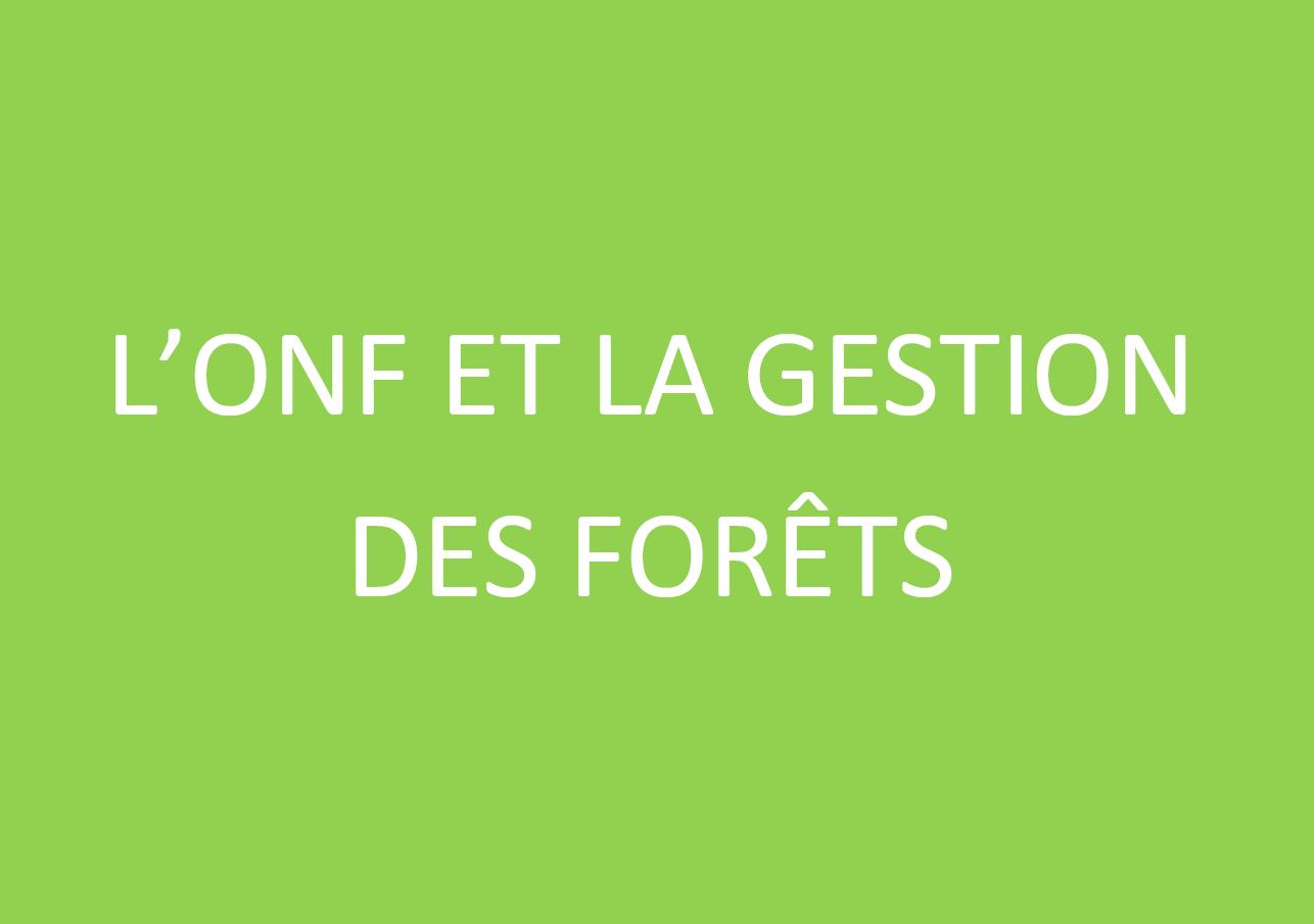 L'ONF et la gestion des Forêts